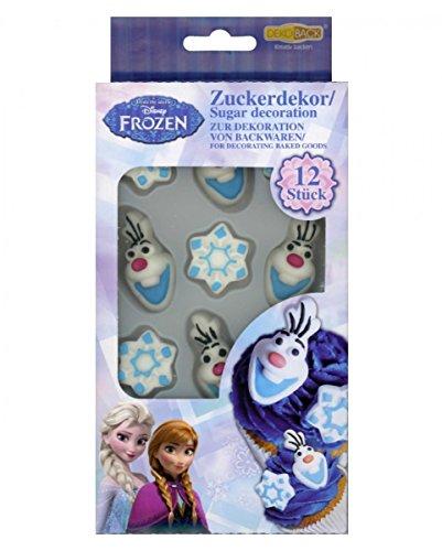 Zuckerdekor | Streudekor | Kuchendekor | Backdekor | Zuckerdekoration | Dekoration Olaf | Zuckerdekor für Kuchen/ Torten Olaf