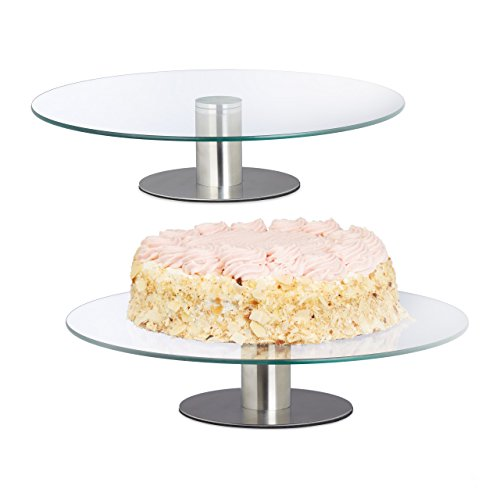 Tortenteller drehbar | Glasplatte für Torte