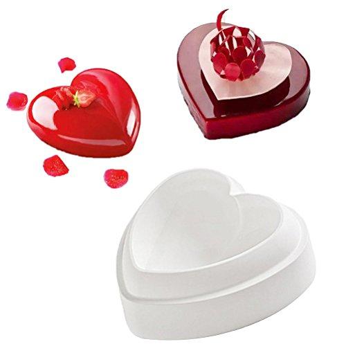 Herz Silikon 3D Backform | 3D Kuchenform Herz