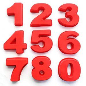 Backform Zahlen, Kuchenform Zahlen, Ausstechform Zahlen