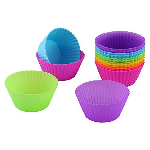 Belmalia Muffinform , Silikon Muffinform , 12-er Muffin Backform , Backförmchen Silikon muffin