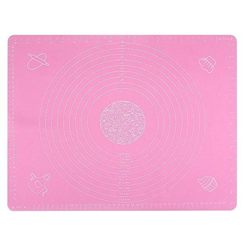 silikonmatte zum backen | backmatte rosa | silikon backmatte | teigmatte | silikon teigmatte | rosa teigmatte