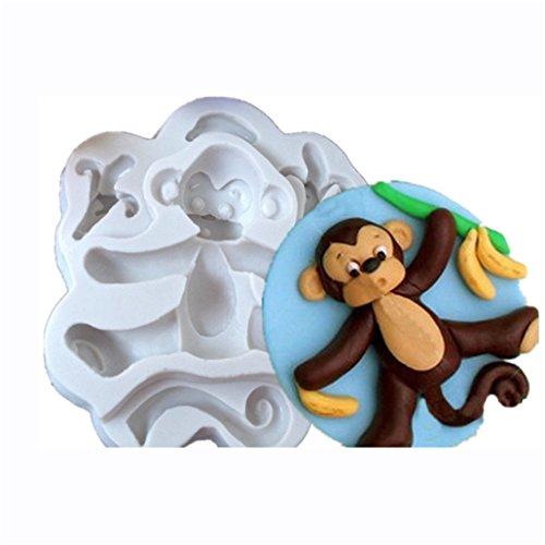 Silikon Fondant Affenfigur | Schokoladenform Affe