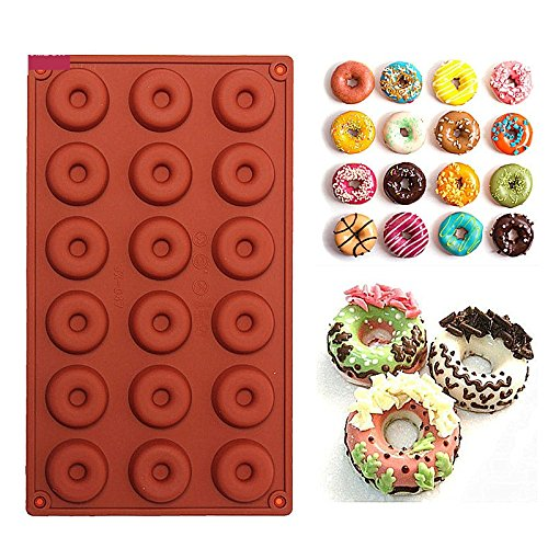 18 mini Donuts Backform | 18 Donuts Backform klein | Kuchenform Donuts | Krapfen Backform | runde Backform | kleine Backform rund | Kuchenform Krapfen | Backform Donuts