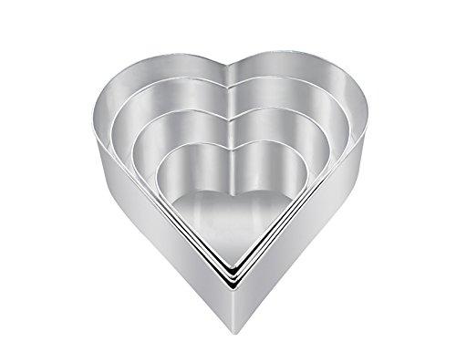 4 Herzbackformen | 4er set. Herzbackformen für hochzeitstorte