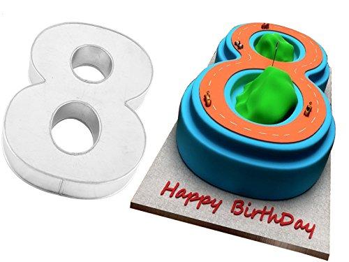 Zahlen Backform | Ziffern Backform | Zahl 8 Backform | Kuchenform Zahl 8 | Backform zum 8. Geburtstag