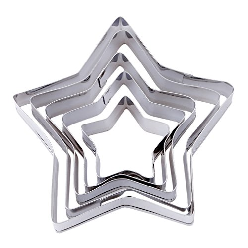 Backform Sterne | Kuchenform Sterne | mehrteilige Sternformen zum Backen | Keksausstecher Sternform