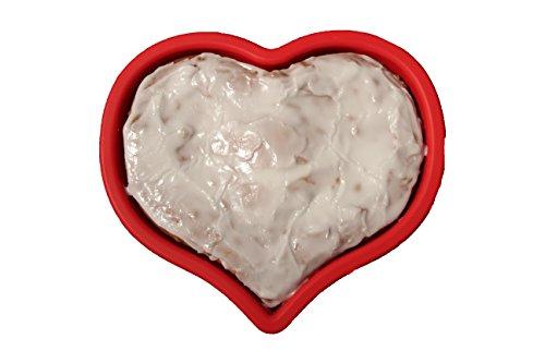 Herzbackform Silikon | Kuchenform Silikon Herz | rote Silikon Backform