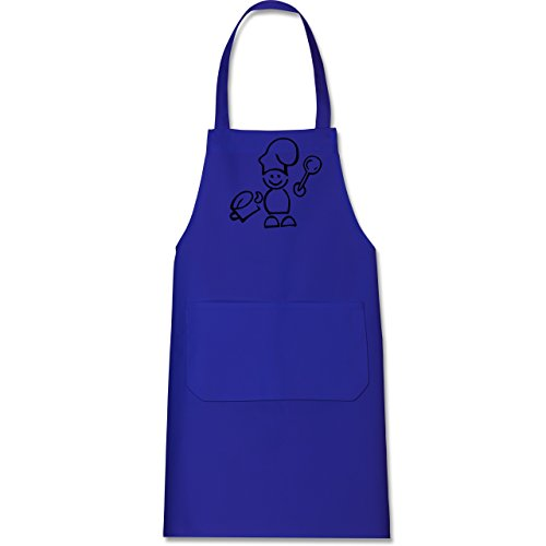 Kochschürze blau   blaue backschürze   schürze blau  