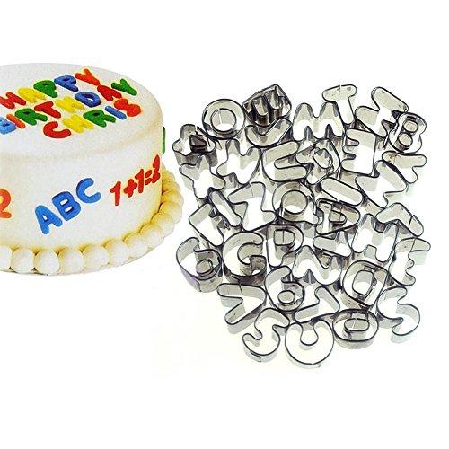 Zahlen und Alphabet zum Ausstechen | Backform Zahlen und Buchstaben zum Ausstechen | Kuchen Ausstechform Ziffern und Alphabet