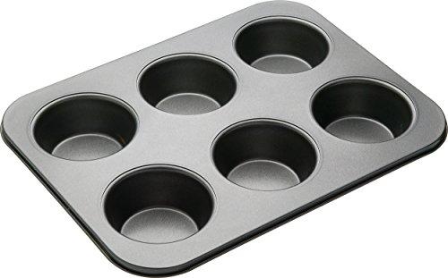 Master Class Antihaftbeschichtete Backform | Muffin Backform | 6 Muffin Backform