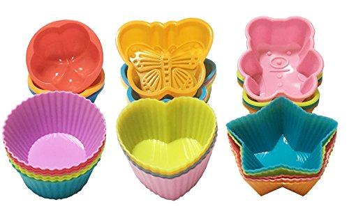 Muffinform Silikon   Backform 26er- wiederverwendbare Cupcake Formen