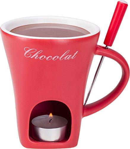 Schokoladenfondue in einer tasse | tassenform Schokoladenfondue | Schokoladenfondue mit kerze | tassen schokoladenfondue