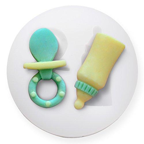 3D Baby Backform | Kuchenform für Neugeborenes | Schnulle Backform | Baby Flasche Backform | 3D Backform Schnuller