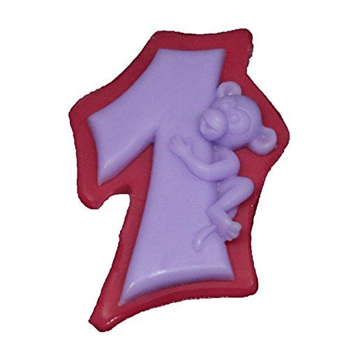 Backform Zahl mit Affenfigur | Silikon Kuchenform mit Affenfigur