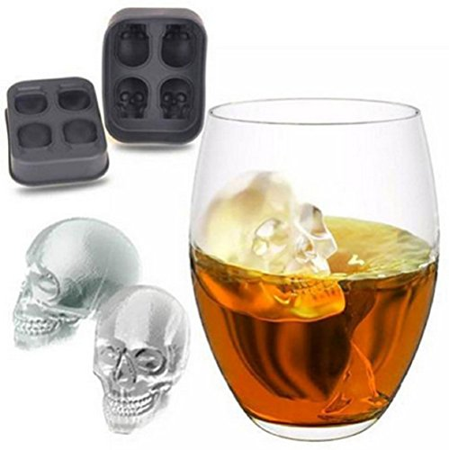 3D Halloween Silikonform Todenkopf | Eiswürfel Silikonform Totenkopf
