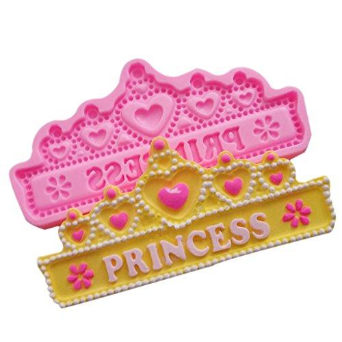 Krone Silikon Backform mit Prinzessin Beschriftung , Kuchensilikon form diadem mit beschriftung